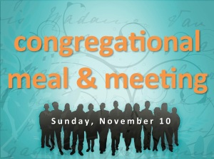 Congregational Meal Nov 10