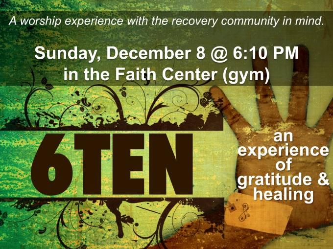 6TEN December 8 flyer