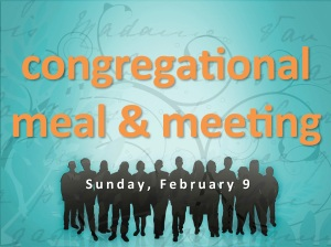 Congregational Meal Feb 9