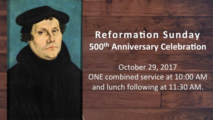 Reformation Sunday 10 AM