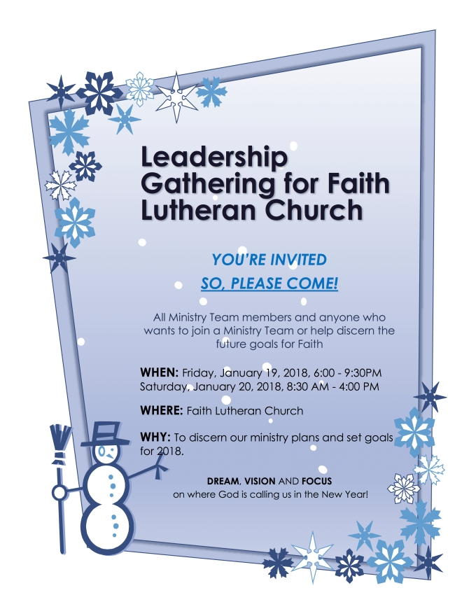 2018 Leadership Gathering invite